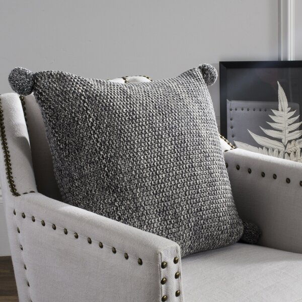 Mellina Knit 100% Cotton Throw Pillow by Gracie Oaks